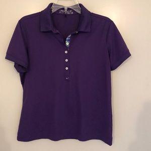 Women's Nike golf polo, purple, sz M